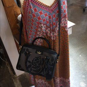 kate spade Bags - Kate Spade Black & Pink Cutout Crossbody bag